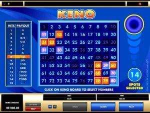 Online Keno Real Money
