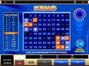 Online Keno med riktiga pengar