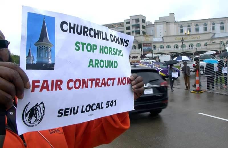 Churchill downs valets go on strike