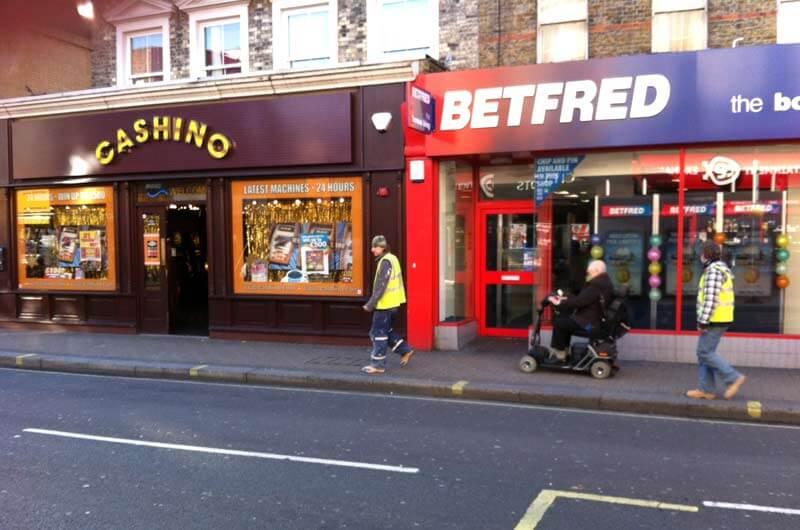 High street betting shops in United Kingdom