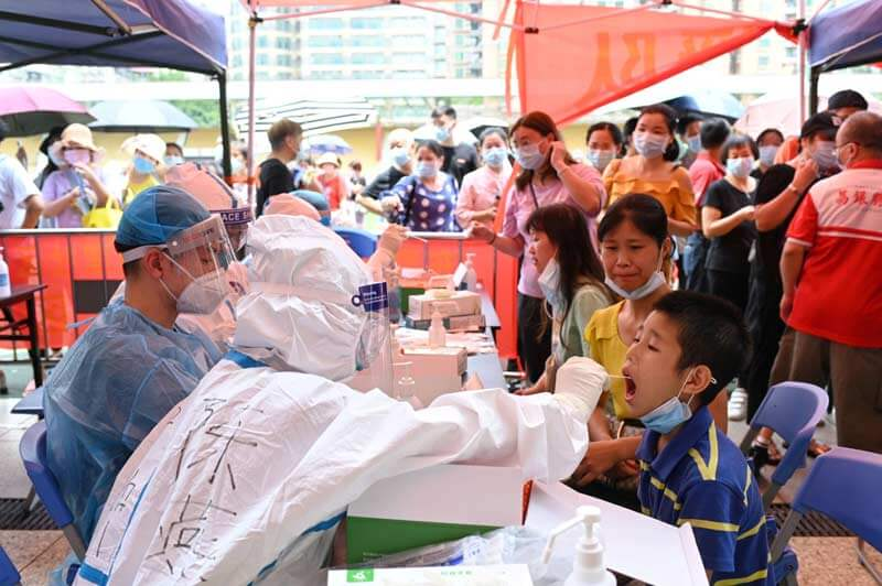 Outbreak of Covid 19 cases in Guangdong, China