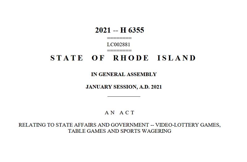 New Rhode Island bill 2021-H 6355